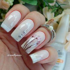 Korea Nail Art, Manicure, Mauve Nails, Perfect Nails, Trendy Nails, Nail Colors, Acrylic Nails, Nailart, Nail Designs