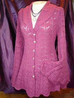 Heirloom Lace jacket Knitting Pattern-PDF
