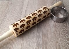 Embossing rolling pin Buffalo design Cookie by MariaKonstantin