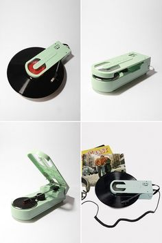 Crosley Revolution USB Turntable.  I want this.