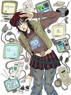 Character Art, Character Design, Cute Art Styles, Funky Art, Pretty Art, Art Sketchbook, Aesthetic Art, Cool Drawings, Cartoon Art