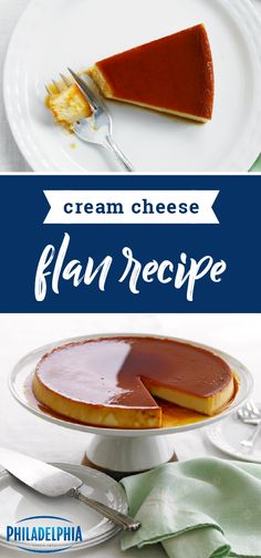 Cream Cheese Flan Recipe – Fulfill your every flan-tasy with this traditional dessert. Learn how to make a crowd-pleasing flan just in time for the holiday season. Kraft Recipes, Egg Recipes, Mexican Food Recipes, Baking Recipes, Dessert Recipes, Dessert Ideas, Cake Recipes, Chicken Recipes, Deserts