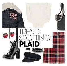 """""""Plaid is rad"""" by minorseventh ❤ liked on Polyvore featuring Alexander Wang, rag & bone, Burberry, Puma, Quay, Lola, contestentry, nyfwstreetstyle and NYFWPlaid"""