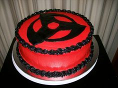 Kick-ass Naruto Cake!!! Kakashi's Mangekyo Sharingan for Andrew's Birthday.