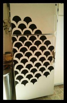 Contact paper fridge decoration