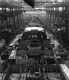 1942 Battleship Iowa Construction at Brooklyn Navy Yard