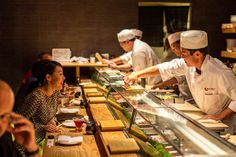 """NYC or London » Nobu Restaurants - Nobuyuki """"Nobu"""" Matsuhisa is a celebrity chef and restaurateur known for his fusion cuisine blending traditional Japanese dishes with South American ingredients. His signature dish is black cod in miso"""