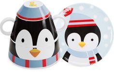 Penguin - Izzy & Owie Stackable Dinner Set of 4