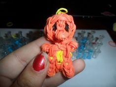 Charmander Rainbow Loom Charm tutorial - YouTube