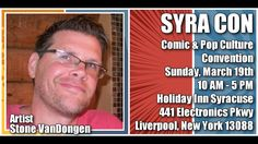 #Syracuse #ComicCon Sunday March 19 Holiday Inn Syracuse 441 Electronics Pkwy Liverpool, New York 13088    https://www.facebook.com/events/37352512