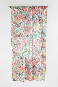 UrbanOutfitters.com > Chevron Patterned Curtain