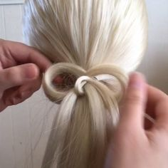 """""""How to do a 30 second hair bow. I make a bigger deal of making videos than it actually is. I'll be making more of these! It was quick and simple, just like this hairstyle! I'll post a full video on my YouTube  channel (abellas braids) tonight or tomorrow! Use the hashtag #simplebowponytail"""" Photo taken by @abellasbraids on Instagram, pinned via the InstaPin iOS App! http://www.instapinapp.com (09/04/2015)"""