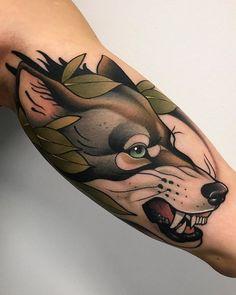 WEBSTA @_alvarito_tattoo Lobo para Sílvia! Muchas gracias   Done at @malibutattoo_sitges  alvarito.booking@gmail.com