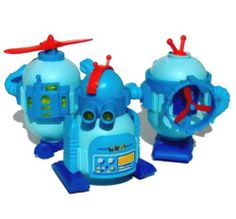 Full SET Blue Plastic Robots LOT 2 4 Inch SEE Pictures Details | eBay