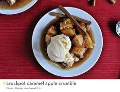 Crockpot Carmel Apple Crumble