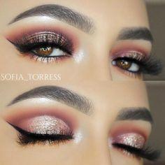 Flattering Ideas for Light Brown Eyes Makeup ★ See more: http://glaminati.com/light-brown-eyes-makeup/ #weddingmakeup