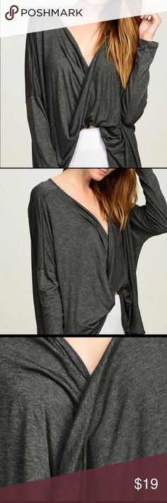 SALE!!!!Bellino cross over shirt 97%rayon and 3%spandex! So soft and comfy! Tops Tees - Long Sleeve