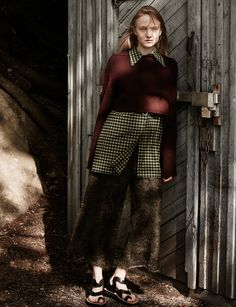Smile: Maja Salamon in Amica Italia October 2016 by Tomas Falmer Lund, Knit Pants, Best Photographers, Casual Fall, Editorial Fashion, Autumn Fashion, Hair Makeup, Stylists, Magazine
