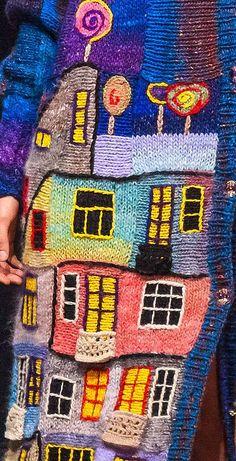 BLUE HUNDERTWASSER handmade kn