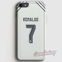 32828fec772 Cristian Ronaldo Real Madrid Jersey New Kit iPhone 7 Case   casefantasy