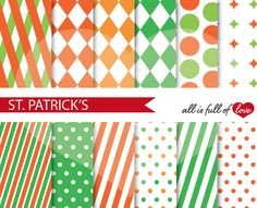 St Patrick's Day Background Patterns by All is full of Love on @creativemarket