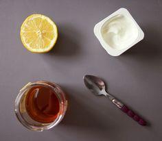 Masque visage au yaourt, miel et citron
