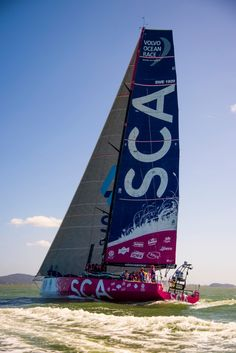 April 7, 2015. Leg 5 Arrivals in Itajaí; Team SCA arrive in fifth place Buda Mendes / Volvo Ocean Race