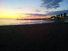Beach at sunset (Sicily)