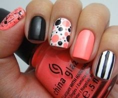 If only i could paint designs on my nails without them looking gross! :(