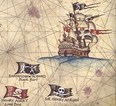 Pirates of the South Atlantic States Art Print 11 x 14 Hand image 2 Jack Sparrow, Pirate Symbols, Boat Drawing, Hand Images, Black Sails, Vintage Maps, Flag Design, Limited Edition Prints, State Art