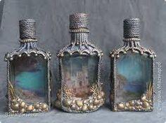 Resultado de imagem para бутылки декупаж