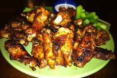 Dry Rub & Grilled Hot Wings ... yuuummm! Better than fried hot wings and better for you