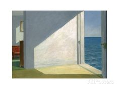 Edward Hopper Rooms by the sea art painting for sale; Shop your favorite Edward Hopper Rooms by the sea painting on canvas or frame at discount price. Edouard Hopper, Edward Hopper Paintings, Art Gallery, Marc Chagall, Sea Art, Grand Palais, Magritte, Am Meer, Claude Monet