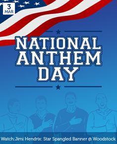 Mar 3 - National Anthem Day