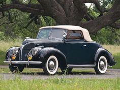 1938 Ford DeLuxe Convertible Coupe.