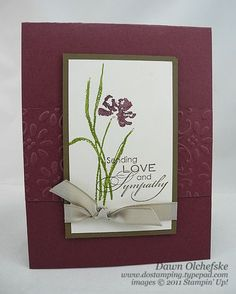 Stampin' Up! Love & Sympathy: 3 Quick Cards - DOstamping with Dawn, Stampin' Up! Demonstrator: