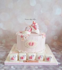 Abbie's Christening Cake by Wooden Heart Cakes