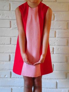 Hack up a simple a-line dress pattern....