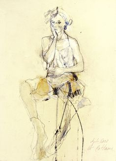 """Saatchi Art Artist Ute Rathmann; Drawing, """"Hommage à Schiele XI"""" #art"""