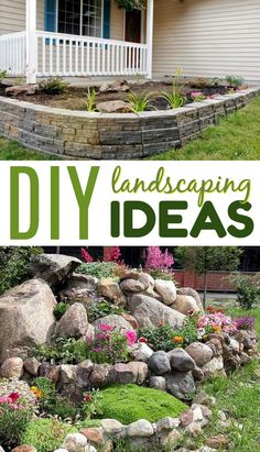 Nothing looks better than to kick off spring with a beautiful  landscaping job. Today I want to share with you all some great DIY  Landscaping Ideas perfect to spruce up your home this spring. #homedecor #diyhomedecor #diyhomedecorideas #homedecorideas  #diyhomedecorprojects #homedecorprojects #homedecordiy #doityourselfhomedecor  #easyhomedecorideas #funhomedecorideas #landscaping