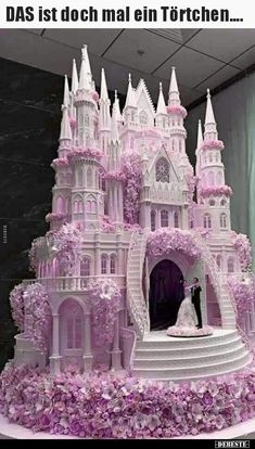 Chic Technique: A royally grand lavender, pink and white castle wedding cake. - -The Chic Technique: A royally grand lavender, pink and white castle wedding cake. Castle Wedding Cake, Big Wedding Cakes, Beautiful Wedding Cakes, Gorgeous Cakes, Wedding Cake Designs, Pretty Cakes, Cute Cakes, Amazing Cakes, Wedding Themes