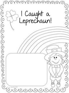 FREEBIE! I hope you enjoy this St. Patrick's Day creative writing activity! Included are a drawing/coloring page, a story brainstorming page, and publishing pages with and without clip art. repinned by Charlotte's Clips