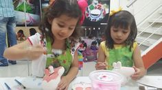 Peppa Pig Pottery Party.