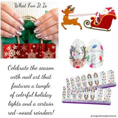 Check out the latest in Holiday Nail Art. Color Street nail strips are super easy to apply. No dry time, no smudges Fail Nails, Street Game, Holiday Nail Art, Nail Polish Strips, Color Street Nails, Holiday Lights, Beautiful Soul, Christmas Nails, Nails Inspiration