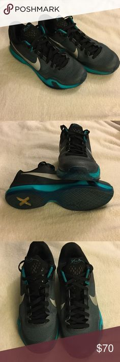 Kobe X Nike men's basketball shoes Basketball season is starting! These Kobe's have only been worn on a court a couple of times. Nike Shoes Athletic Shoes