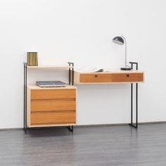 60er Jahre Regal- Schreibtischkombination, Rüster von VELVET-POINT VINTAGE STORE auf DaWanda.com