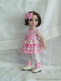 """Patsy Anne Estelle Tonner 10"""" fashion Cotton Candy fluff dress handmade  by JEC #ClothingAccessories"""