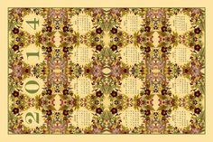 Natures Jewels 2014 Calendar Tea Towel fabric by mypetalpress on Spoonflower - custom fabric