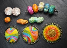 earrings, beads, pendants by polymerclaybeads, via Flickr