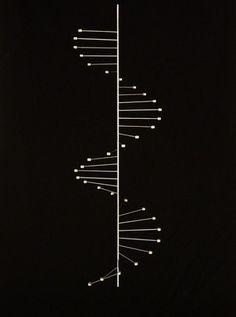 "Poul Kjaerholm ""DNA"" double helix candelabra.  Denmark."